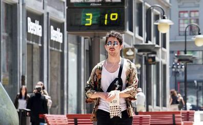 Los termómetros asturianos, por encima de los 30 grados y subiendo