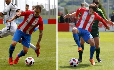 Rubén Sánchez y Gorka Santamaría cierran su ciclo en el Sporting B
