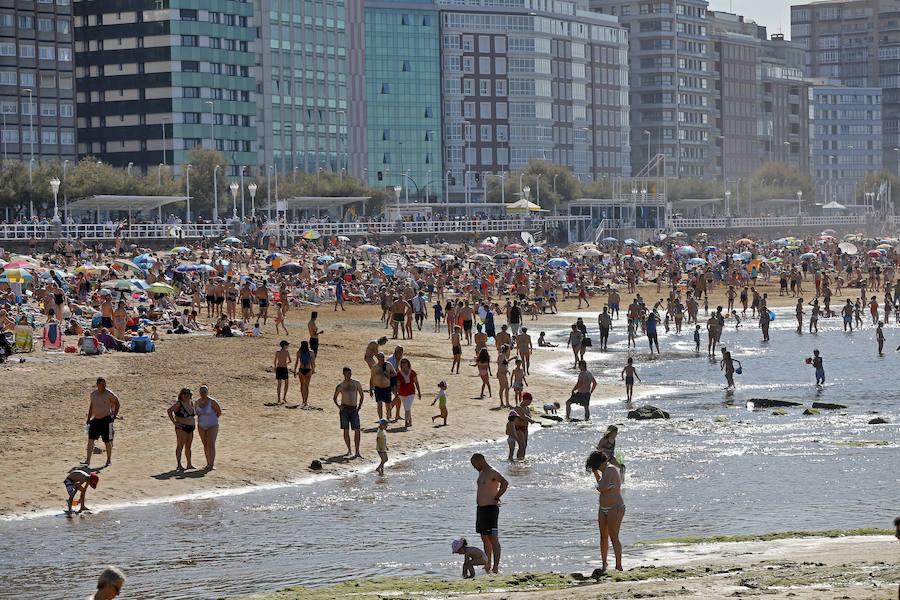 Asturias, en su jornada más calurosa