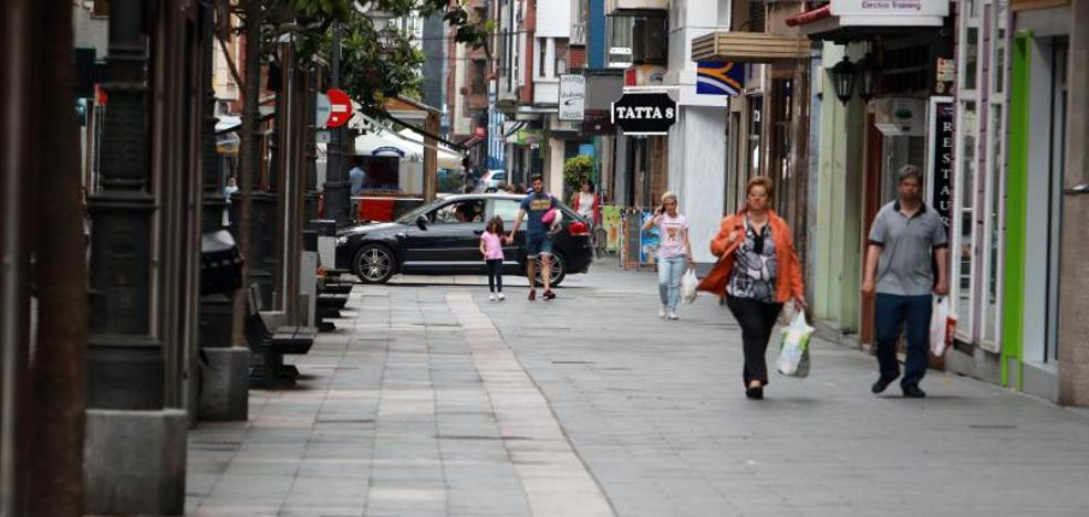 Detenido por conducir ebrio por la zona peatonal de Mieres