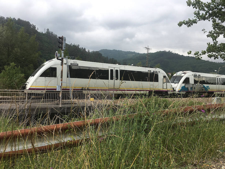 Una nueva avería del tren entre Baiña y Collanzo deja sin servicio al Caudal