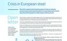 Los gigantes europeos del acero advierten del «riesgo inminente para miles de empleos»