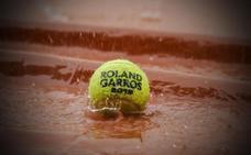 La lluvia arruina el día en Roland Garros
