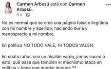 Arbesú denuncia un perfil falso con su nombre en las redes sociales