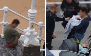 Alarma en la playa de San Lorenzo por un hombre que amenazaba con meterse en el agua con un bebé
