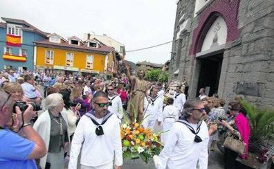Procesión marinera de San Juan en Soto del Barco
