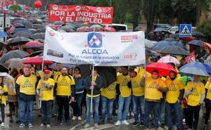 Los trabajadores de Alcoa mantienen la 'Marcha del Aluminio'
