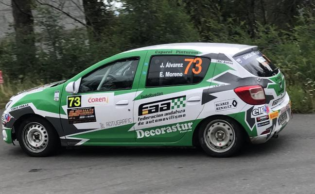 Jonathan Álvarez, tercero en el Rallye de Ourense
