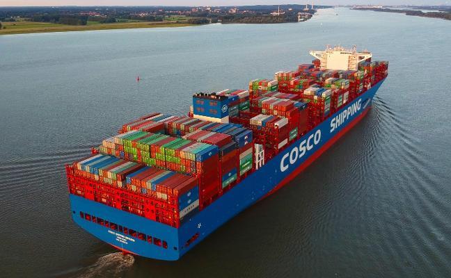 La naviera china Cosco operará en El Musel con una conexión semanal de contenedores