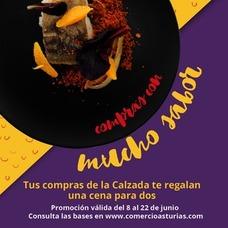 Las compras en La Calzada y el Natahoyo sortean cenas en Gijón