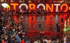 Toronto se echa a la calle para celebrar el título de la NBA