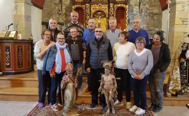 Descubren un arco románico al restaurar la iglesia de Barcia