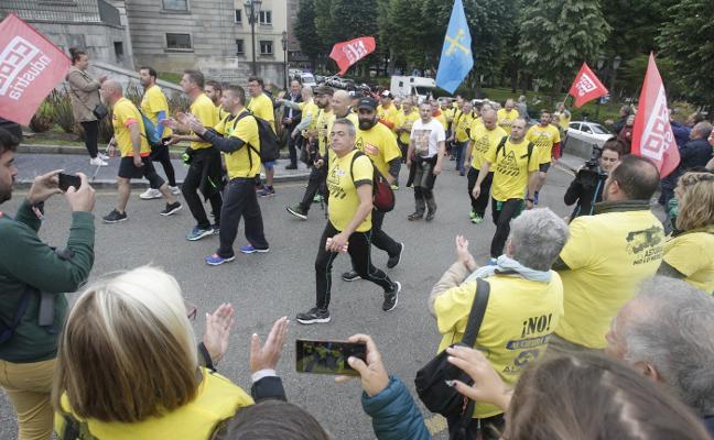 «Vamos a Madrid porque tenemos razón», reivindican los trabajadores de Alcoa