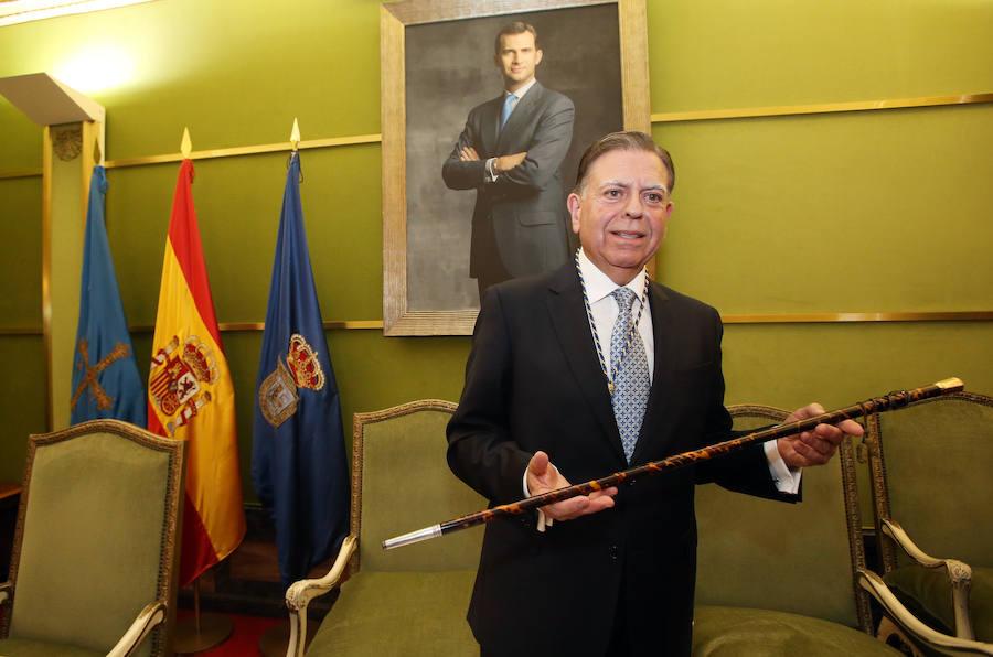 Las imágenes de la investidura de Alfredo Canteli como alcalde de Oviedo