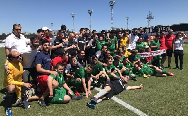 El Sporting disputa la final de la Liga Genuine