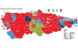 El nuevo poder municipal de Asturias