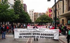 Protesta en Gijón por la defensa de las pensiones públicas