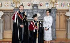 El Rey, investido nuevo caballero de la Orden de la Jarretera