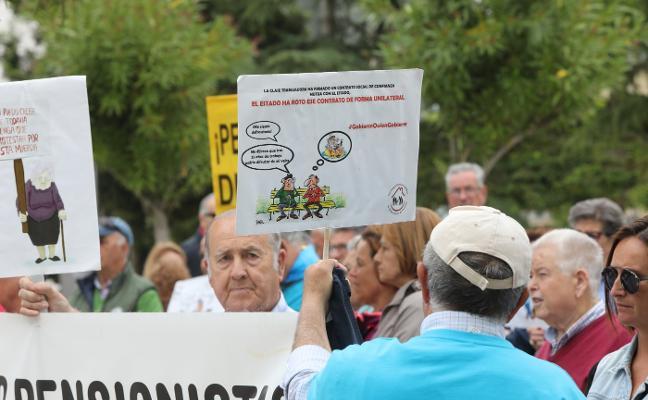Concentración de pensionistas y jubilados