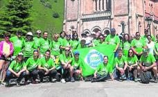 Éxito de la marcha a Covadonga