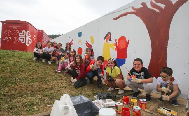 Un mural «para hacer barrio»