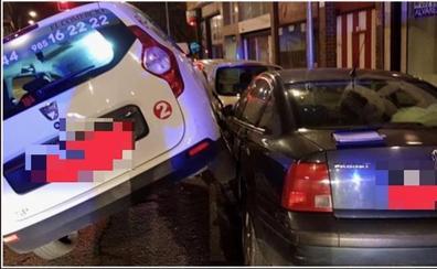 Se estrella con un taxi mientras miraba una tablet y da positivo en drogas en Gijón