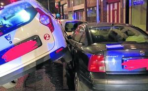 Un conductor de taxi drogado y sin licencia choca en Gijón