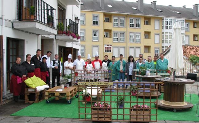 Una terraza diferente en Pravia