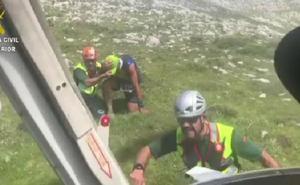 La Guardia Civil rescata a un corredor del Gran Trail Picos de Europa herido