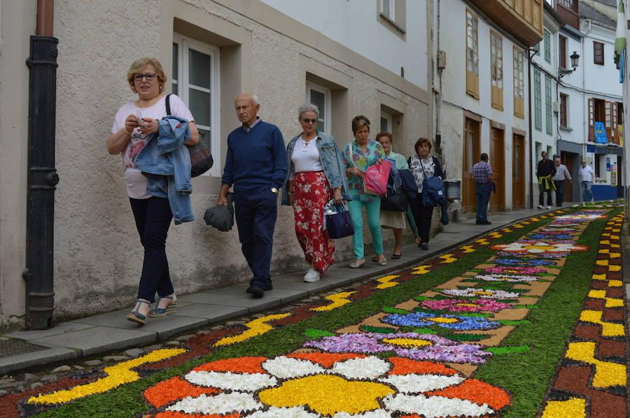 Castropol maravilla con sus alfombras florales