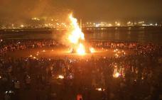 Así será la hoguera de San Juan en Gijón