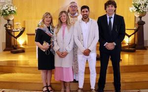 Carmona contrae matrimonio en Vigo con Irati Salinas
