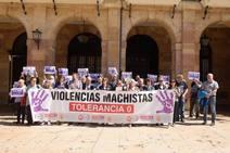 Concentración contra la violencia machista en Oviedo