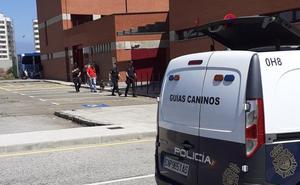 Despliegue policial en Gijón en una operación nacional
