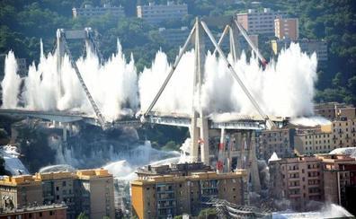 El puente Morandi de Génova deja de existir