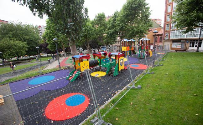 Los parques infantiles de Avilés se renuevan