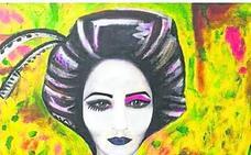 Alicia del Río agita luz y color para dar vida a las 'Figures' que expone en Gijón