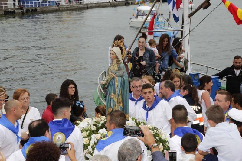 Fervor marinero en Ribadesella por la Virgen de la Guía