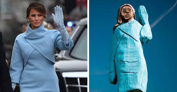 La escultura de Melania Trump... el nuevo Ecce Homo