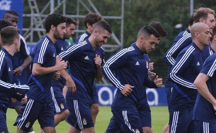 Entrenamiento del Real Oviedo del 8 de julio de 2019
