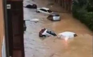 Un muerto por las graves inundaciones a 35 kilómetros de los Sanfermines