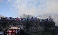 440 personas, límite máximo para acceder al puente romano durante la Descarga