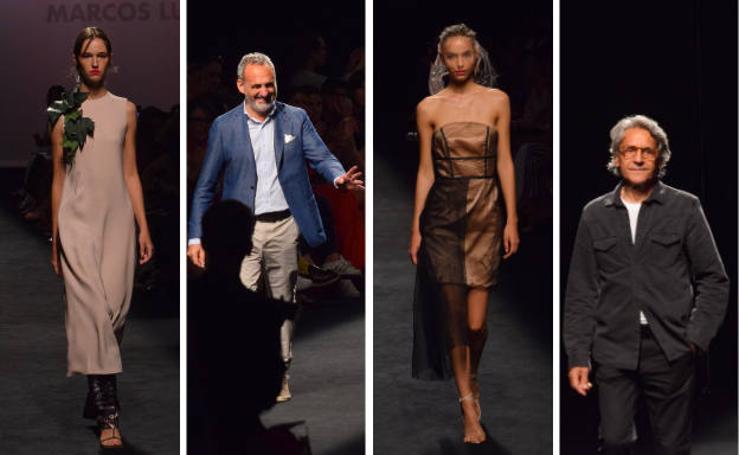 Marcos Luengo y Miguel Marinero, en la Mercedes-Benz Fashion Week Madrid