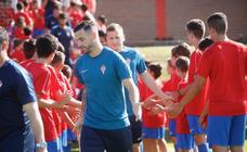 Primer entrenamiento de la temporada del Sporting