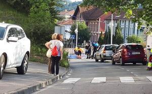 Herido un ciclista tras sufrir una caída en Ribadesella