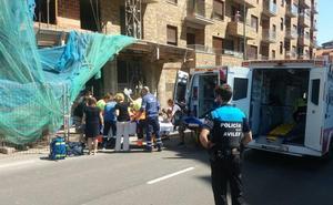 Herido un trabajador tras caerse desde el primer piso de un edificio en construcción en Avilés