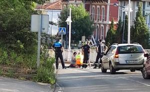 Herido un ciclista en Ribadesella
