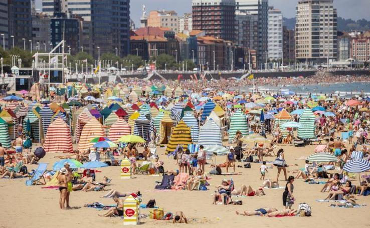 Asturias se refresca ante las altas temperaturas