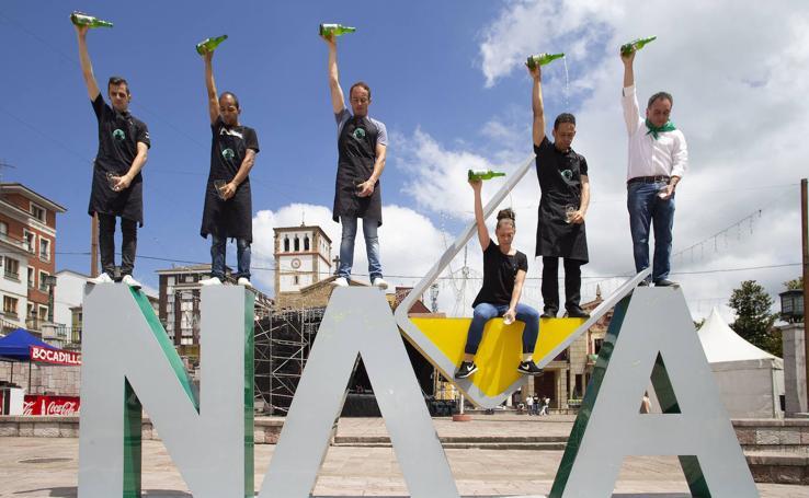 Marcos Ramos gana el concurso de escanciadores de Nava