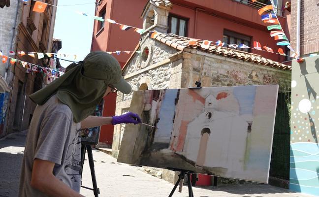 Rafael Dueñas triunfa pintando Arriondas